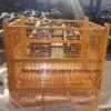 Puder beschichteter Maschendraht-Ablagekasten-gefalteter Behälter