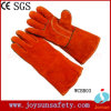 Gant élevé de sécurité de soudeuse de gants de soudure en cuir de vache (WCBR03)