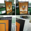 LED delgado Light Box con LED Black Frame