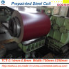 Höchste Vollkommenheit galvanisierte Stahlbeschichteten Stahlring des material-PPGI Farbe