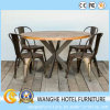 Modern Hotel Restaurante Móveis Metal Design Dining Room Set