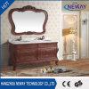 Gabinete de banheiro impermeável clássico da vaidade da madeira contínua