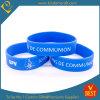 Bracelet bleu personnalisé de silicones d'impression de vente chaude de logo de Chine