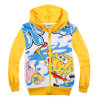Bambini Clothing Spongebob Cartoon Autumn & Spring Kid Long Sleeve Hoodie Boys e Girls Outwear