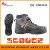Sapatas de segurança importadas India, sapatas de segurança pretas Snf505 do rinoceronte