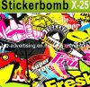 Car Accessories를 위한 PVC Adhesive Hellaflush Graffiti Vinyl Bomb Car Sticker Decal Sticker Bomb