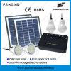 Sistema de iluminación casero solar portable con 4 bulbos y el teléfono solar Cahrger del USB