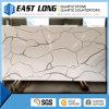 Pierre artificielle de quartz de couleur de marbre blanche bon marché de Calacatta pour Homedecoration