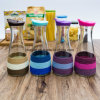 Vaso de cristal colorido del jugo del aceite del agua del nuevo diseño de la venta al por mayor de la fábrica (100014)