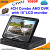 4CH DVR independiente combinado con  monitor 10