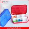 Пластичная квадратная коробка пилюльки (KL-9063)