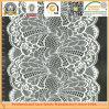 Tissu blanc de lacet de mariage de bout droit de vente en gros de bonne qualité (K6837)