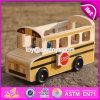 I nuovi bambini di disegno vanno giocattoli di legno facenti un giro turistico W04A340 del bus