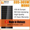 mono PV mono modulo solare fotovoltaico di 355W, fatto nel Vietnam