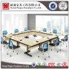 이동할 수 있는 피마자 (NS-CF013)를 가진 정연한 접히는 회의 테이블 멜라민 책상