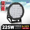 CREE DEL Driving Light de l'Australie et de la Suède Hot Selling DEL Spot Lights 10inch 225W pour Jeep Wrangler SUV