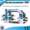 Machine d'impression non-tissée automatique à grande vitesse de tissu de 4 couleurs