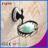 Fyeer klassisches schwarzes Badezimmer-zusätzliche Messingseifen-Teller-Halterung