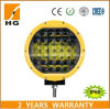 4X4オフロード9inchドライビング・ライトの4D反射鏡の黄色点96W LED作業ライト