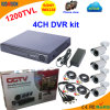 4 canal DVR Kit con Sony 1200tvl Bullet Camera