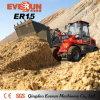 1.5 طن [إفرون] جديدة شرط عجلة محمّل مع [إيوروييي] محرّك