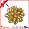 Luz - curva amarela da estrela da fita do presente para a decoração do aniversário