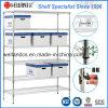 estante comercial de la estantería del alambre de metal del cromo 800lbs, aprobación del NSF y del SGS
