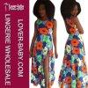 Платье напечатанное цветком макси для повелительницы (L51336)