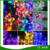 La chaîne de caractères féerique d'énergie solaire allume les lumières décoratives de 20/30/50 de DEL de pêche de fleur de jardin de pelouse de patio de Noël noce d'arbres