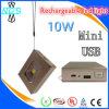Côté rechargeable de pouvoir de lanterne avec l'USB