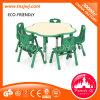 幼稚園の現代プラム形の家具の椅子表のプラスチックセット