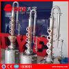 El destilador casero del alcohol con la columna de cobre roja de 6 Stil platea 50L/100L