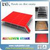 Напольный дешевый портативный алюминиевый этап с регулируемыми ногами