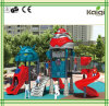 Kaiqi pequeno - campo de jogos temático das crianças frescas feitas sob medida do robô com corrediça e o montanhista espirais (KQ50061A)