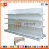 Nuova doppia scaffalatura laterale fissa d'acciaio personalizzata del supermercato (Zhs499)