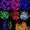 A venda superior 7 colore 100 luzes solares da corda do Natal do diodo emissor de luz