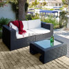 Sofà esterno stabilito della mobilia del sofà del rattan della mobilia del giardino