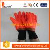 주황색 기업 PVC는 완료 안전 작동 장갑 Dpv311를 반반하게 한다