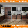 Oppeinの高品質のプロジェクトPVC木製の穀物の台所家具(OP14-PVC01)