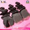 Chiusura invisibile fronta della parte dei capelli umani della parte della chiusura del merletto