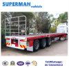 半ヨーロッパの親切な平面貨物トラックのトレーラー