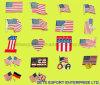 미국 깃발 접어젖힌 옷깃은 911를 핀으로 꼿는다