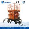Plataforma de elevación de tijera eléctrica movible