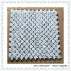 Bianco Carrara de mármol del mosaico (tipo ventilador)