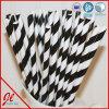 Paja de papel negra de lujo del plástico de los productos del partido de las pajas de beber