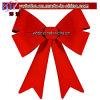 Украшение дома праздника смычка декора рождества подарка рождества красное напольное (CH8056)
