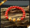 Braccialetto di Carnelian, braccialetti rossi del commercio all'ingrosso dell'agata (LW064)