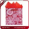 sacs de cadeau de papier de Noël de sacs en papier de cadeau de Noël du flocon de neige 3D