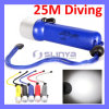 3W CREE Q5 LED Waterproof 25m Diving Flashlight Torch Swimming Submarine Light