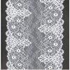 Nouveau tissu de lacet de Tulle de bout droit de qualité de mode